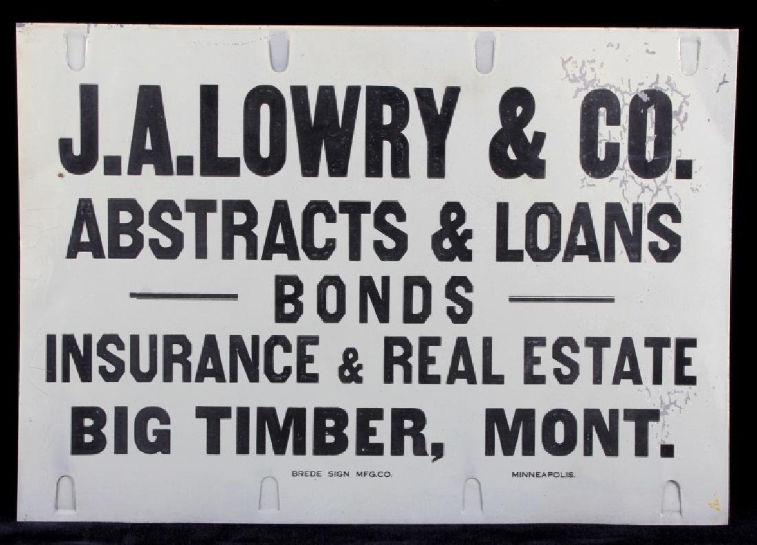 J.A. Lowry Sign from Big Timber Montana - 8