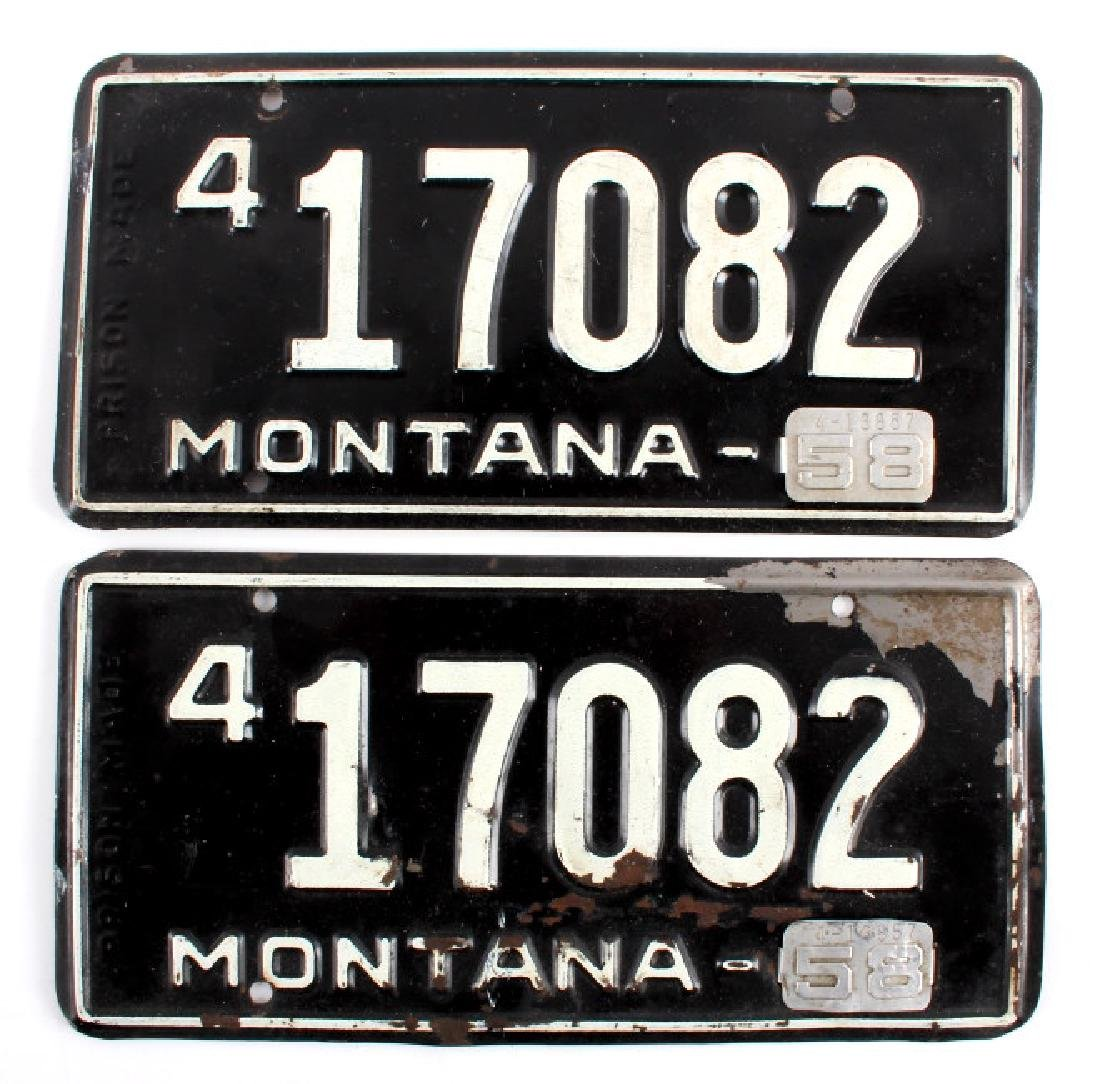 1958 Montana License Plate Collection - 2