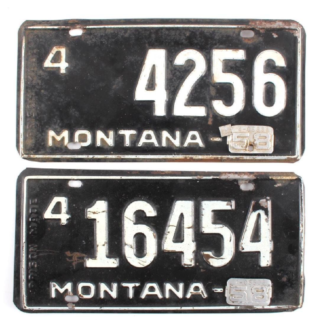 1958 Montana License Plate Collection - 6
