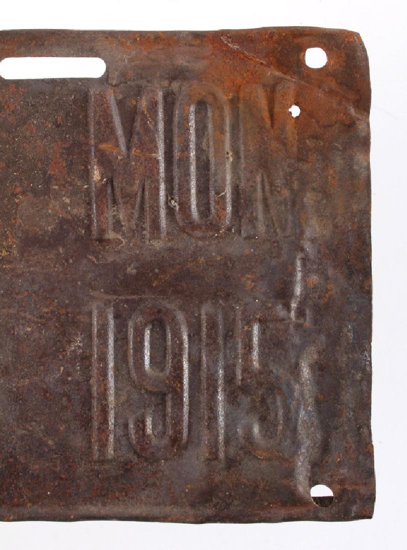 1915 Montana License Plate - 3