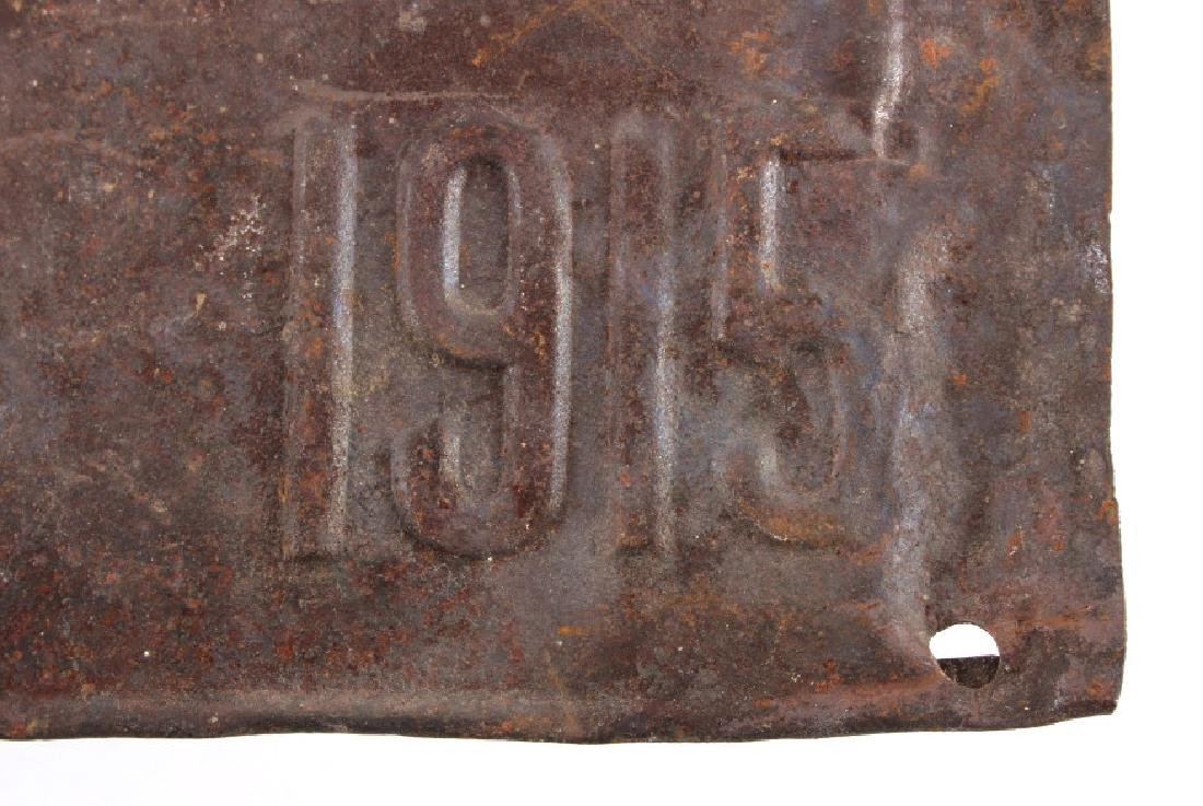 1915 Montana License Plate - 5