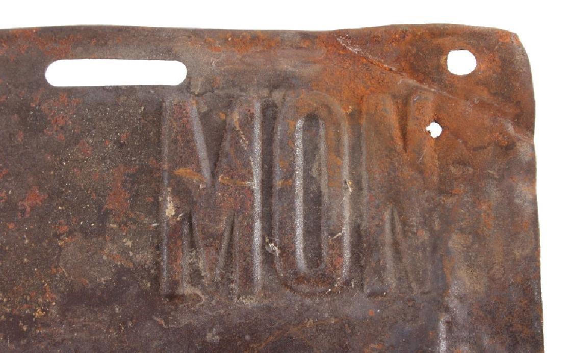 1915 Montana License Plate - 6