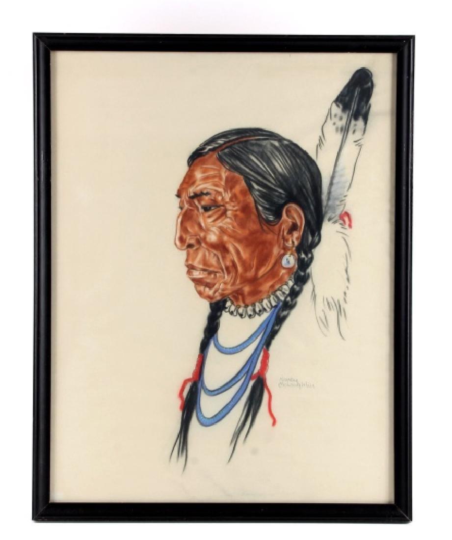 Original Nancy McLaughlin (Powell) Chalk Portrait