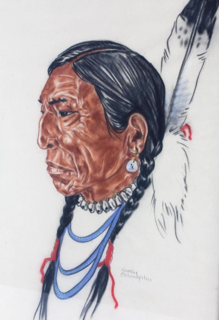 Original Nancy McLaughlin (Powell) Chalk Portrait - 2