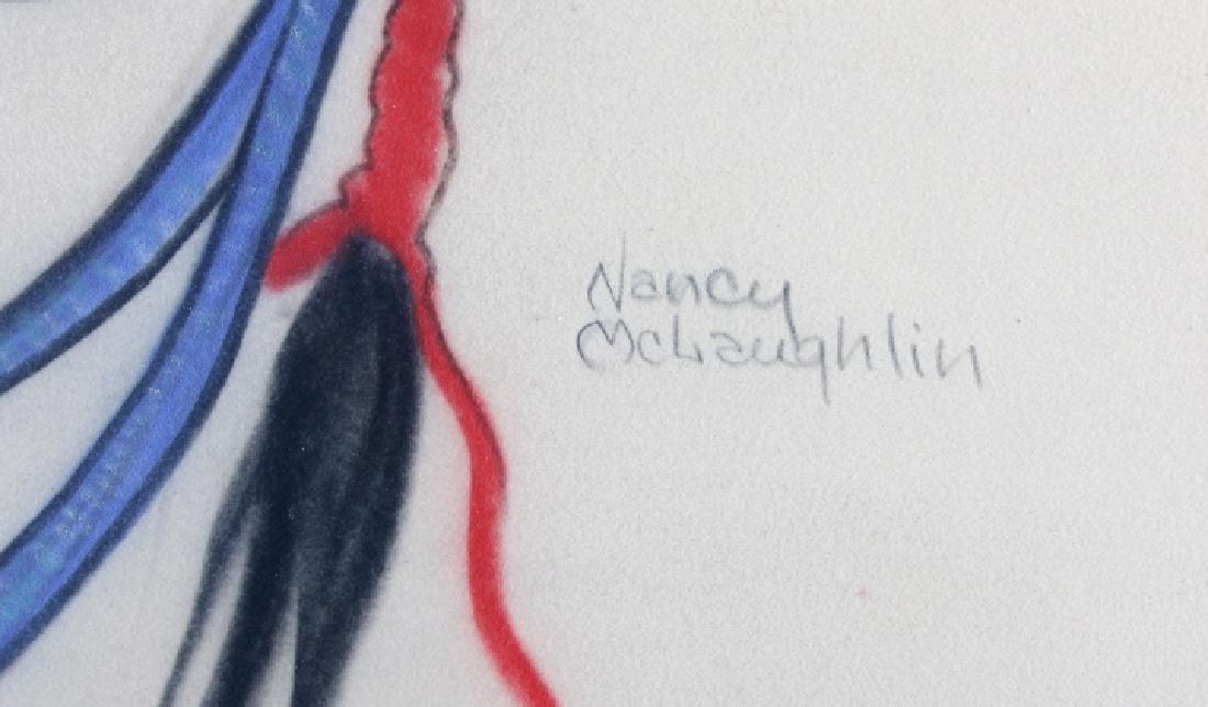 Original Nancy McLaughlin (Powell) Chalk Portrait - 3