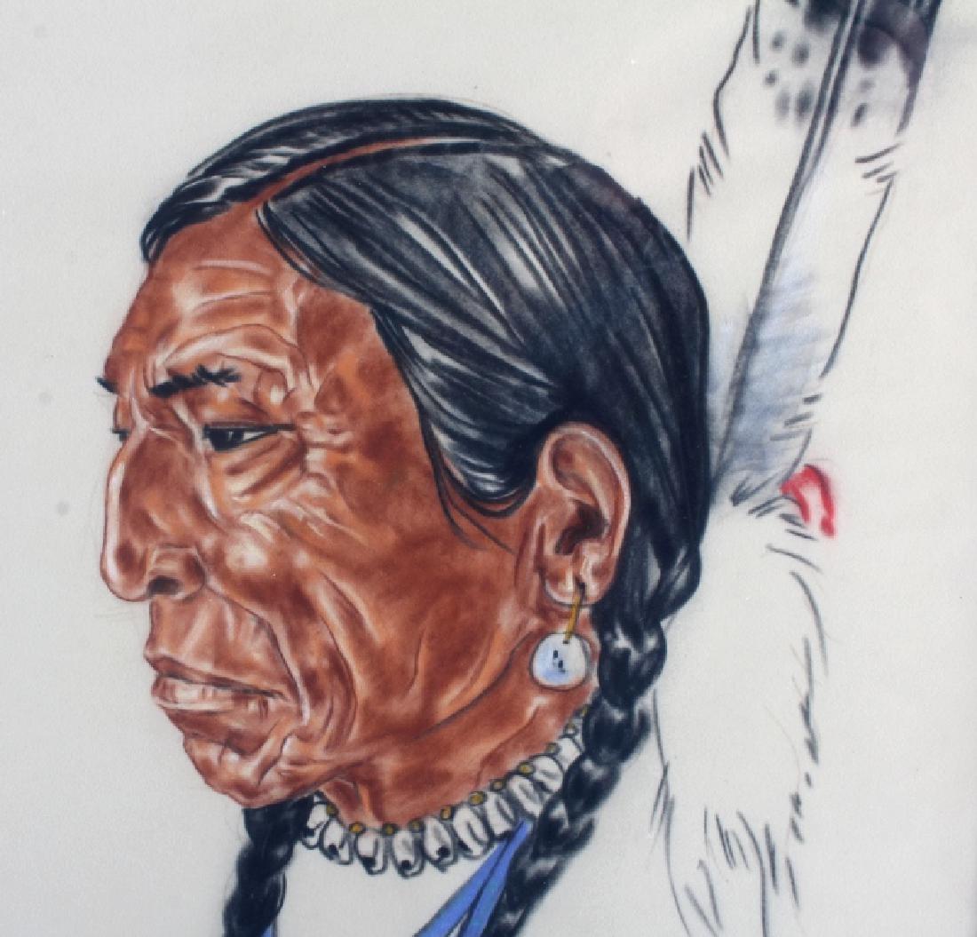 Original Nancy McLaughlin (Powell) Chalk Portrait - 4