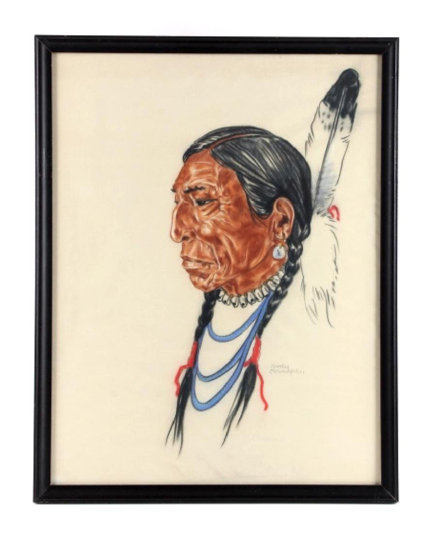 Original Nancy McLaughlin (Powell) Chalk Portrait - 7