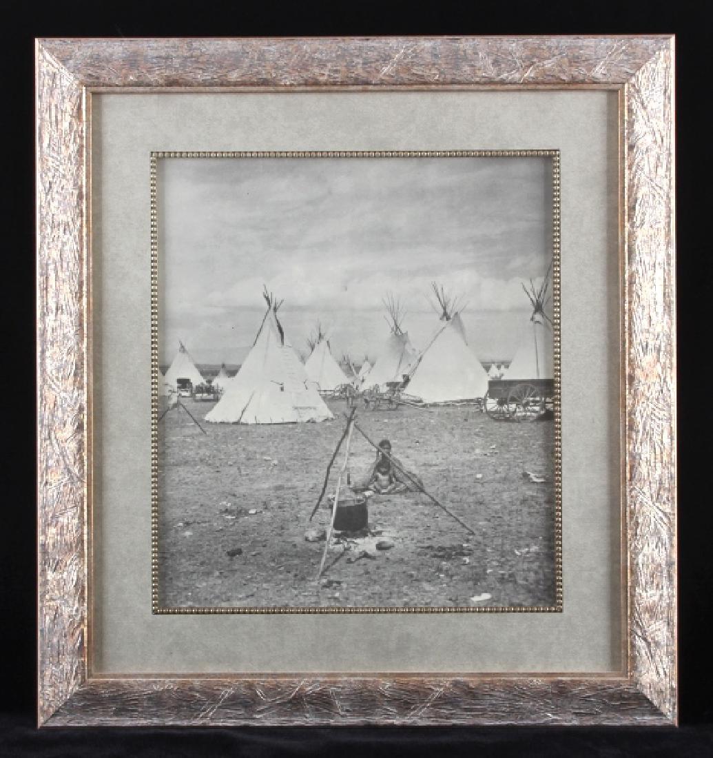 Early Blackfeet Indian Framed Photo Print