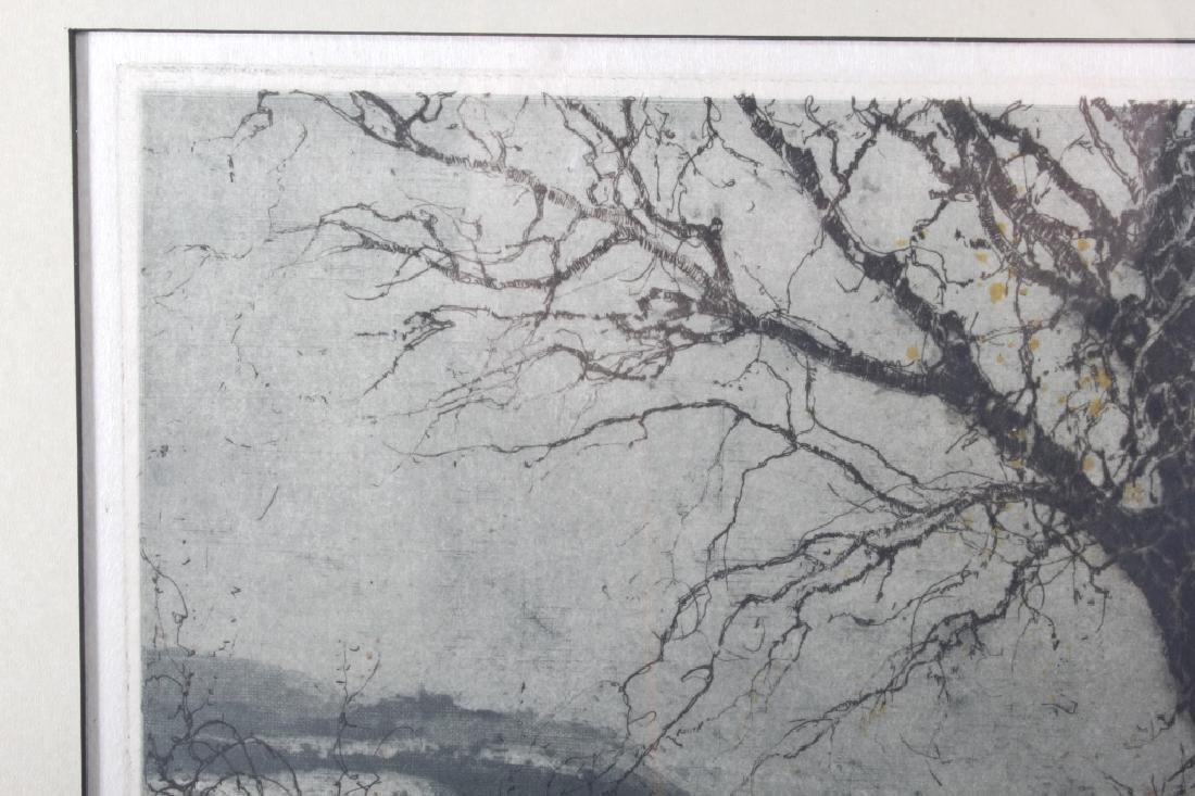 Luigi Kasimir Snow-Covered Landscape Etching - 5