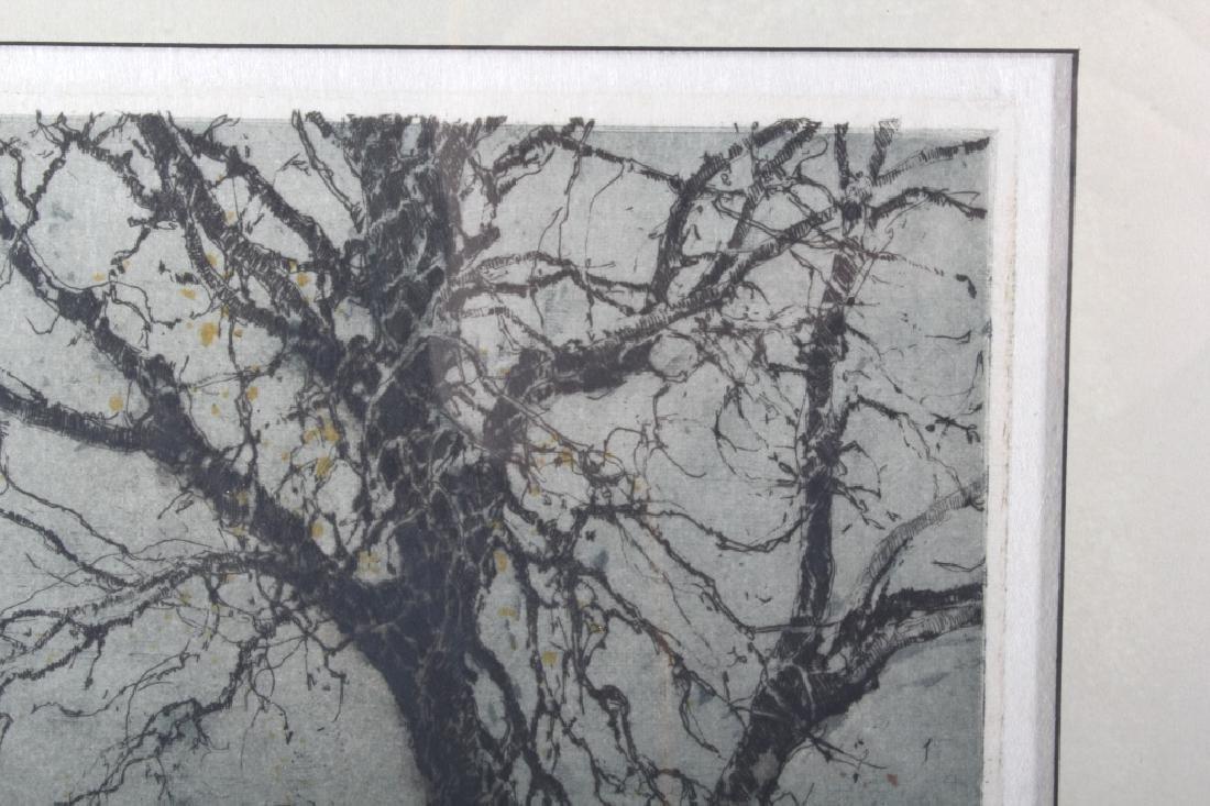 Luigi Kasimir Snow-Covered Landscape Etching - 6