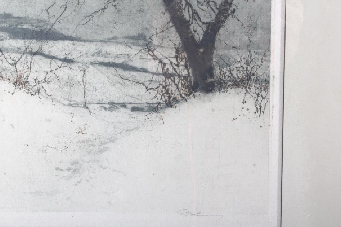 Luigi Kasimir Snow-Covered Landscape Etching - 7