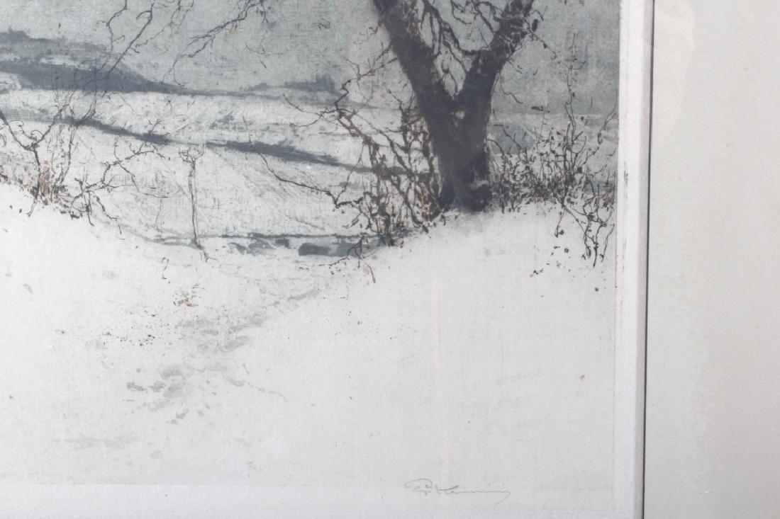 Luigi Kasimir Snow-Covered Landscape Etching - 7