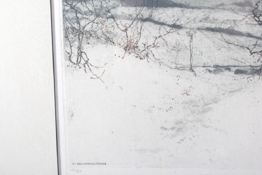 Luigi Kasimir Snow-Covered Landscape Etching - 8