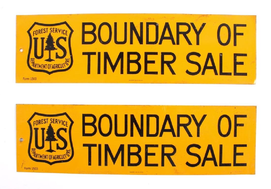 U.S. Forest Service Timber Sale Signs