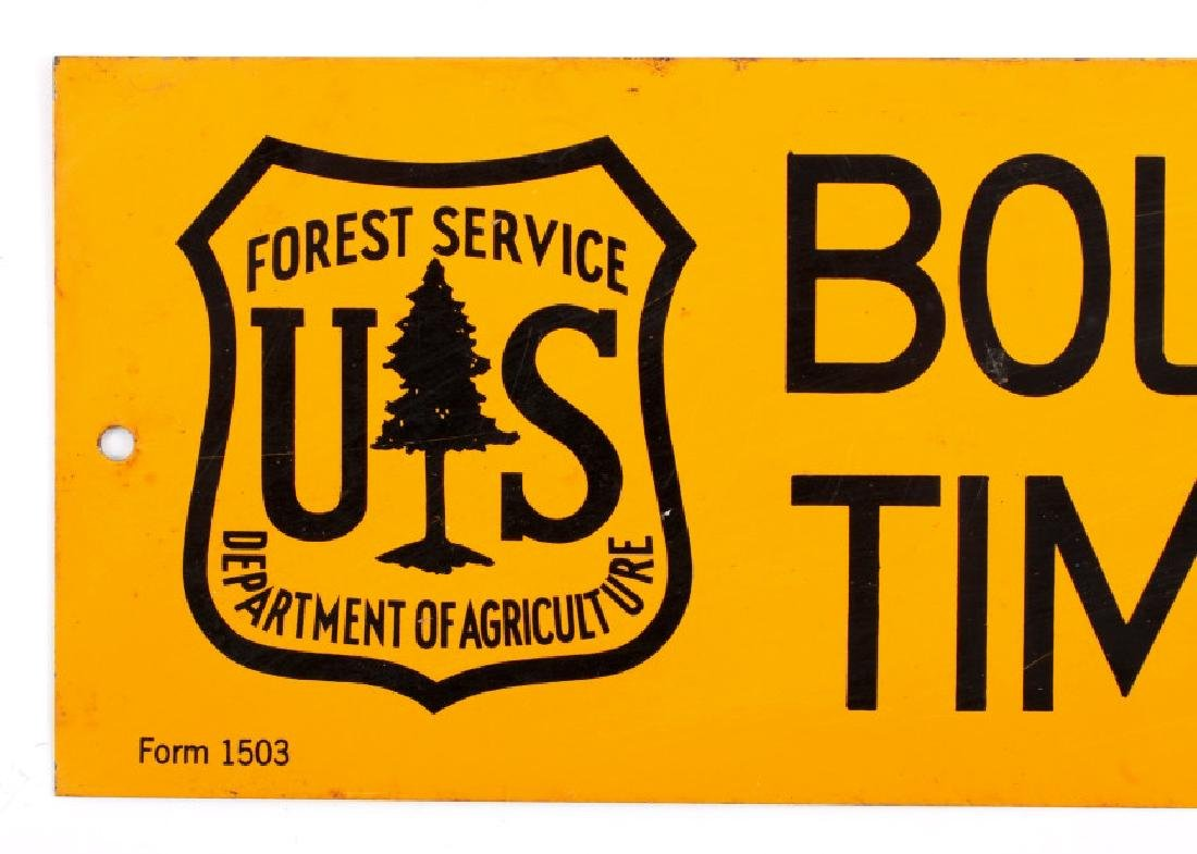 U.S. Forest Service Timber Sale Signs - 2