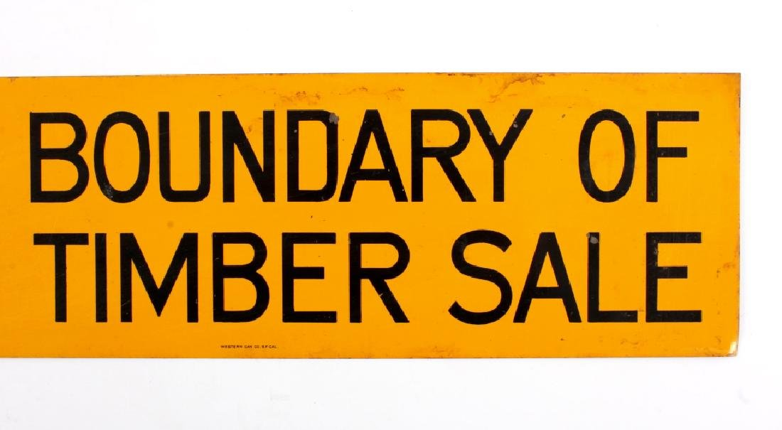 U.S. Forest Service Timber Sale Signs - 3