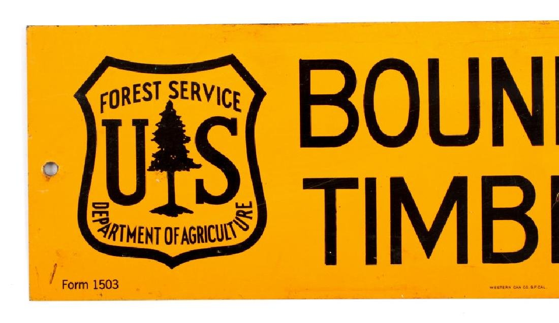 U.S. Forest Service Timber Sale Signs - 6
