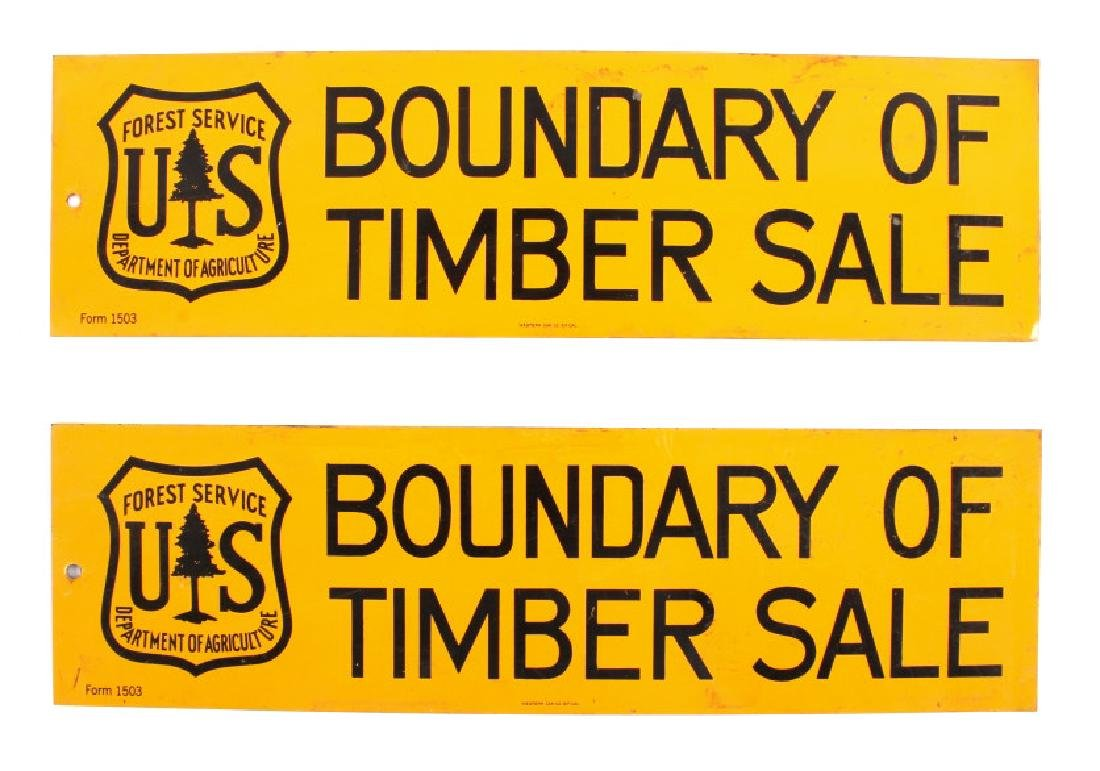 U.S. Forest Service Timber Sale Signs - 9
