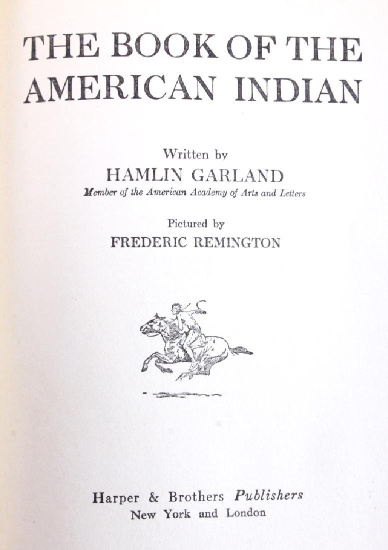 Book of the American Indian by Hamlin Garland 1923 - 2