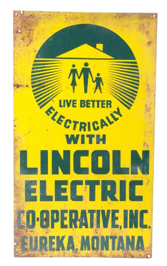 Lincoln Electric Co-Op Sign from Eureka Montana