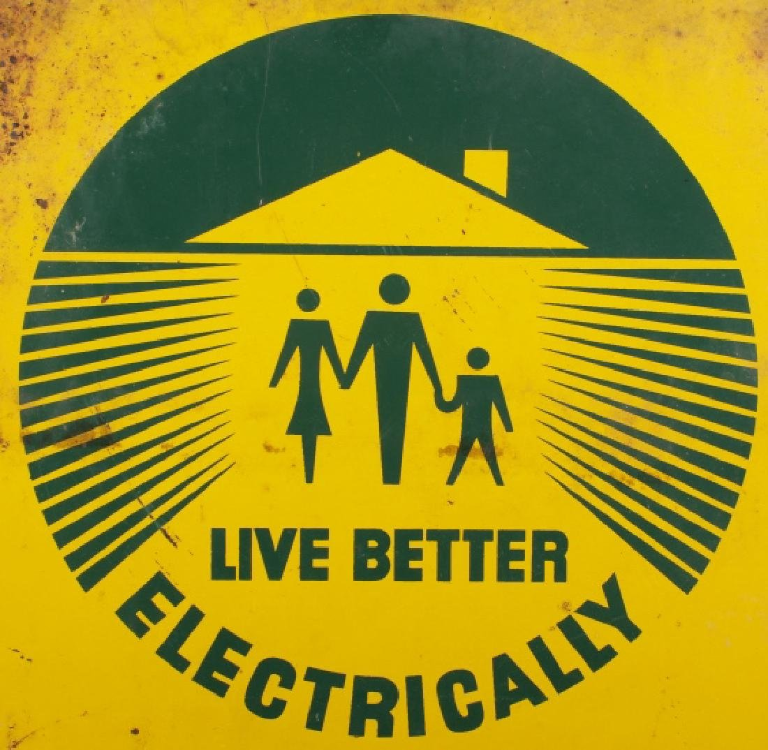 Lincoln Electric Co-Op Sign from Eureka Montana - 2