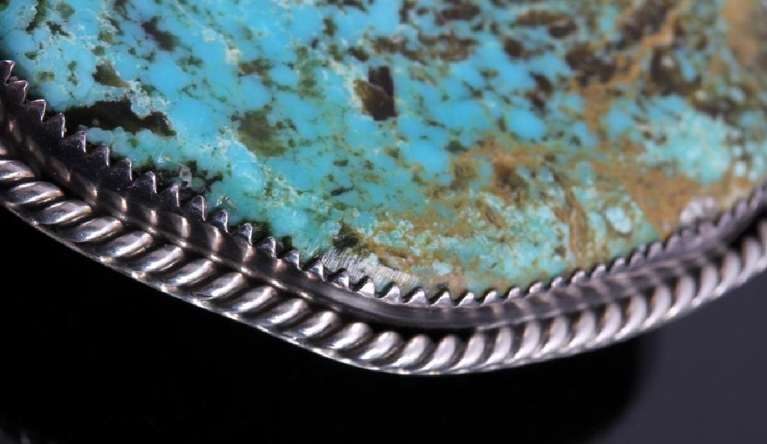 Navajo Sterling Silver and Turquoise Bolo Tie - 4