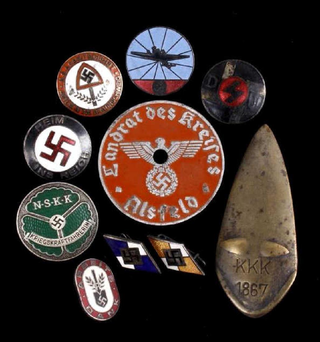 Original WW2 Era Nazi Party Pin Collection