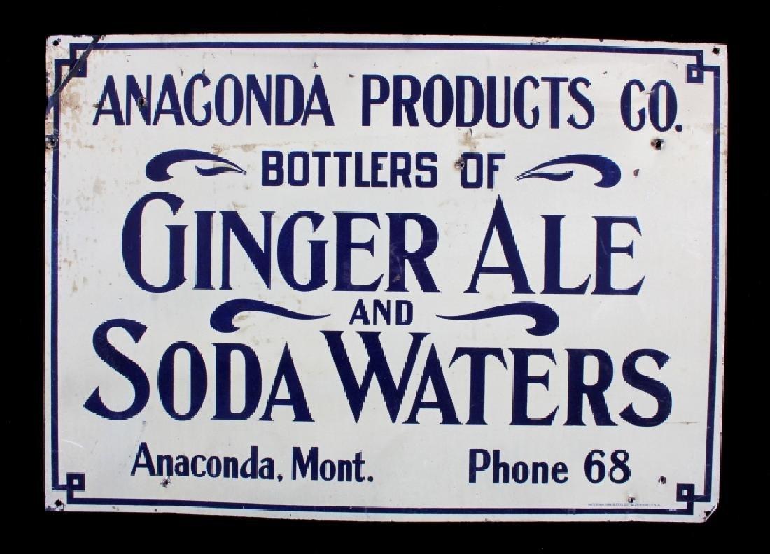 Anaconda Products Prohibition Era Tin Sign