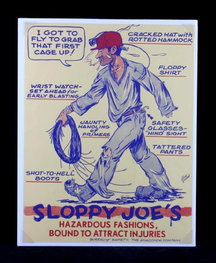 Original Anaconda Company Mining Safety Poster