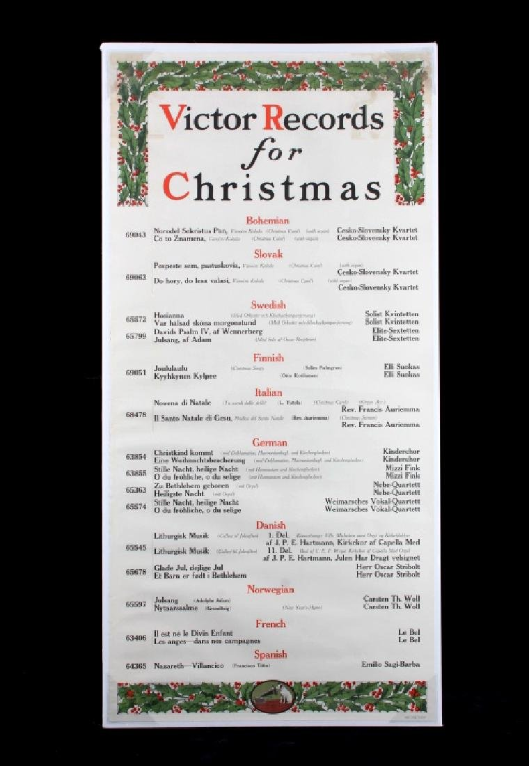 Original RCA Victor Christmas Records Poster 1916