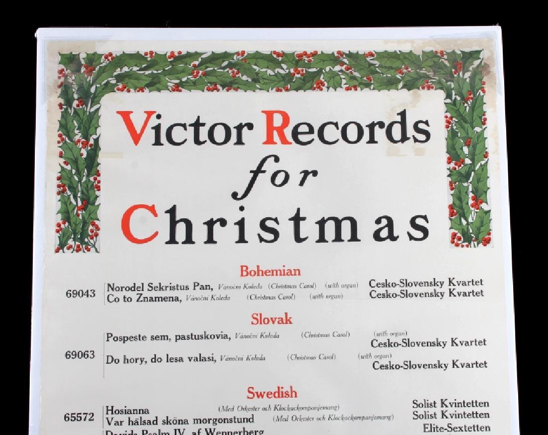 Original RCA Victor Christmas Records Poster 1916 - 2