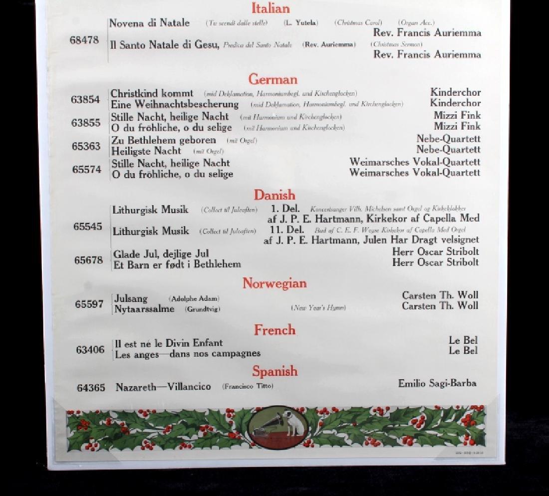 Original RCA Victor Christmas Records Poster 1916 - 3