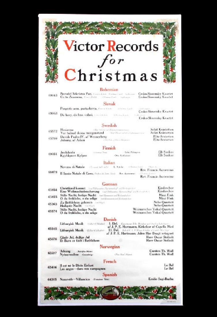 Original RCA Victor Christmas Records Poster 1916 - 8