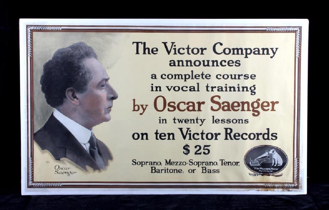 Original RCA Victor Oscar Saenger Poster c.1916