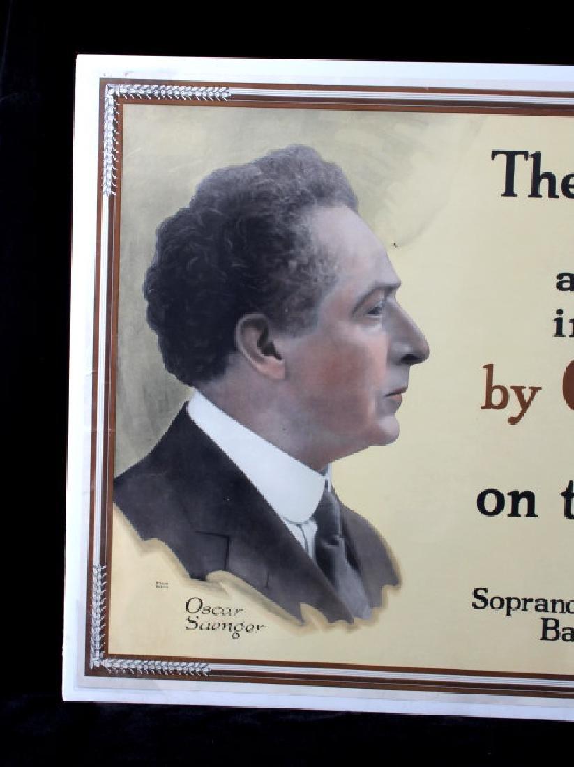 Original RCA Victor Oscar Saenger Poster c.1916 - 2