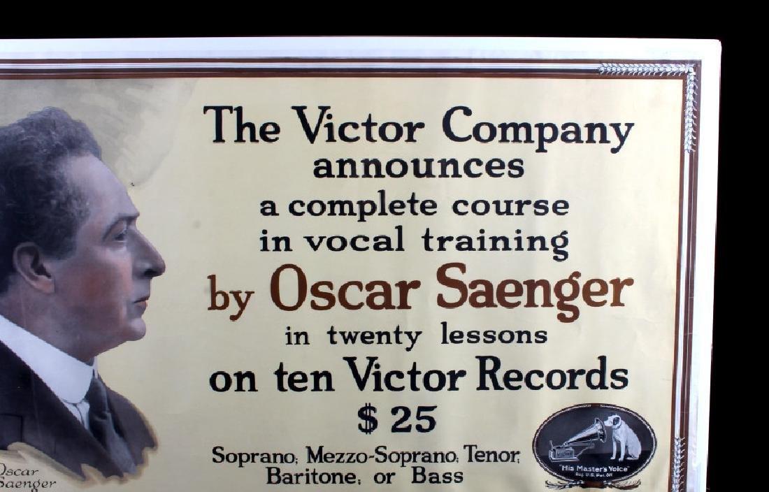 Original RCA Victor Oscar Saenger Poster c.1916 - 3