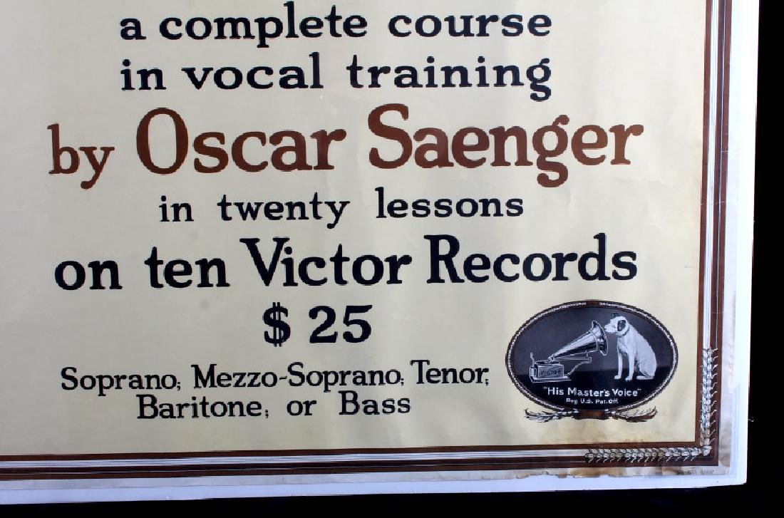 Original RCA Victor Oscar Saenger Poster c.1916 - 5