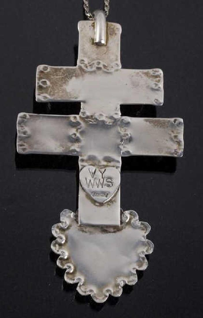 Navajo Spiny Oyster Cross of Lorraine Trade Cross - 6