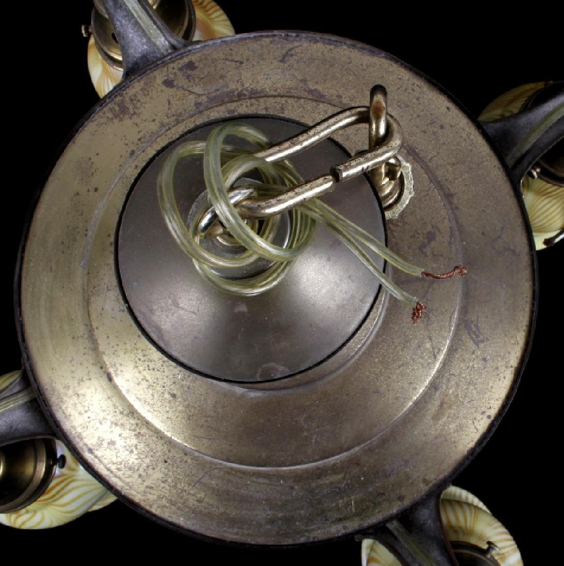 Brass Lamp w/ Steuben Style Art Glass Shades - 2