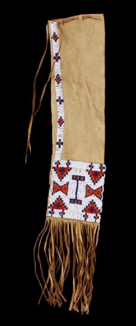 Sioux Polychrome Beaded Leather Pipe Bag