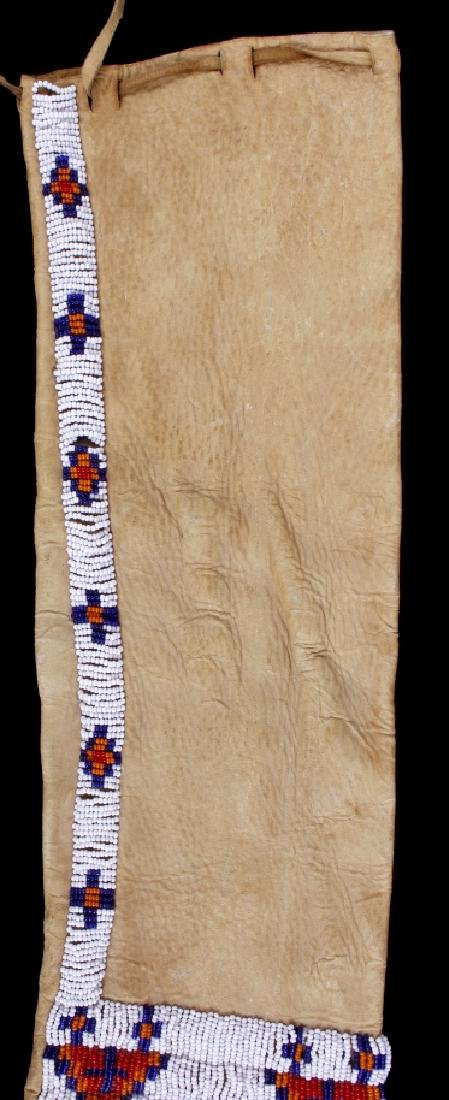 Sioux Polychrome Beaded Leather Pipe Bag - 3