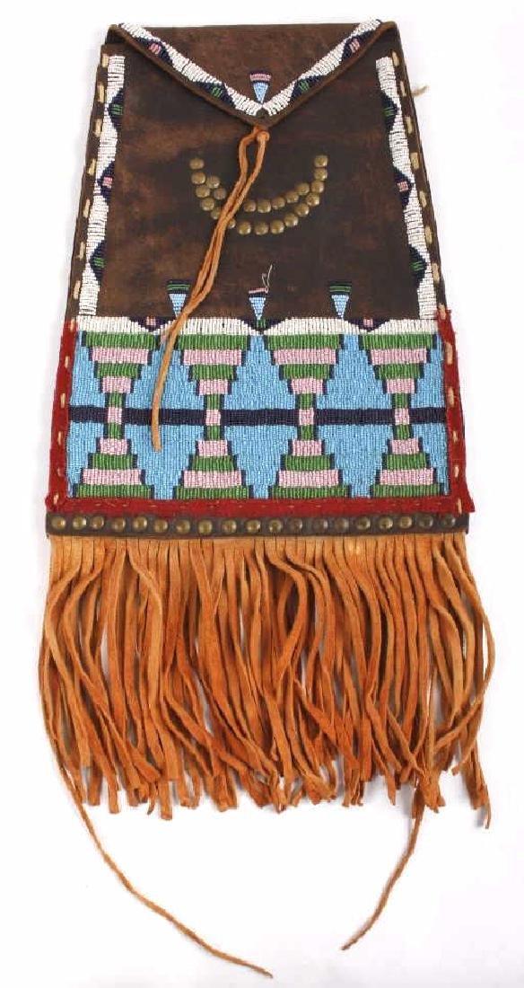 Kiowa Fully Beaded Flat Document Bag