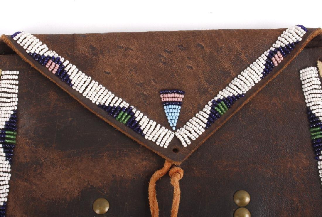 Kiowa Fully Beaded Flat Document Bag - 5