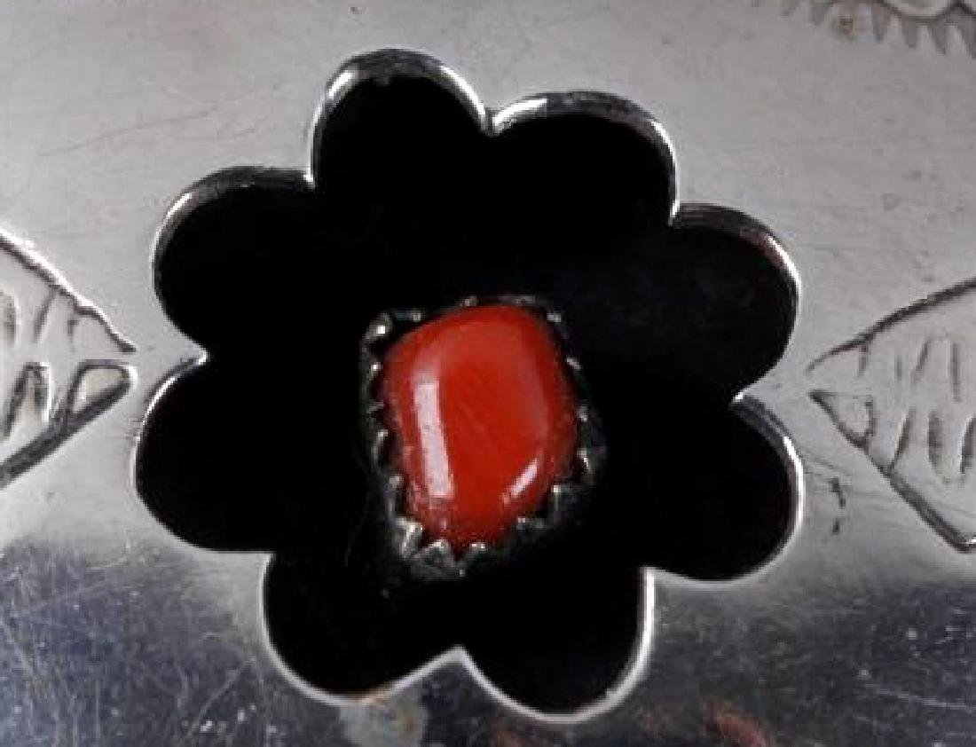 Navajo Engrave Silver & Multistone Shadowbox Cuff - 2