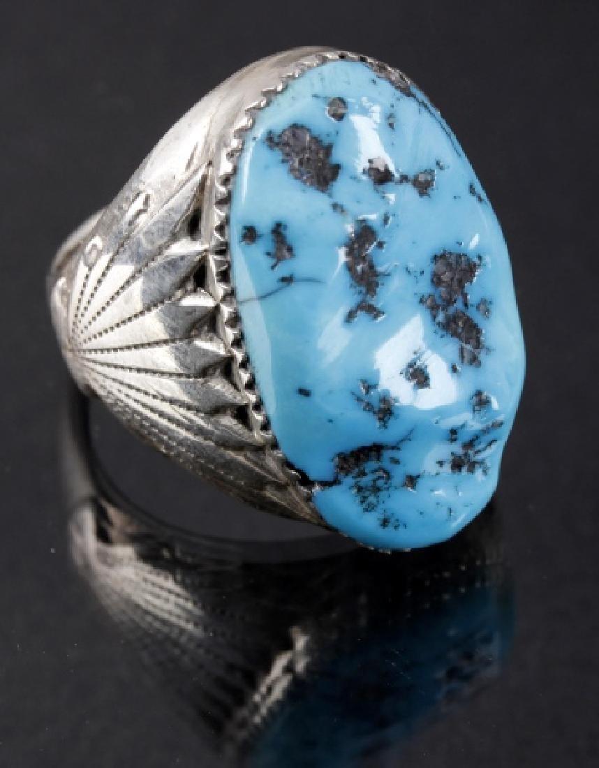 Navajo R. Leekya Sleeping Beauty Turquoise Ring