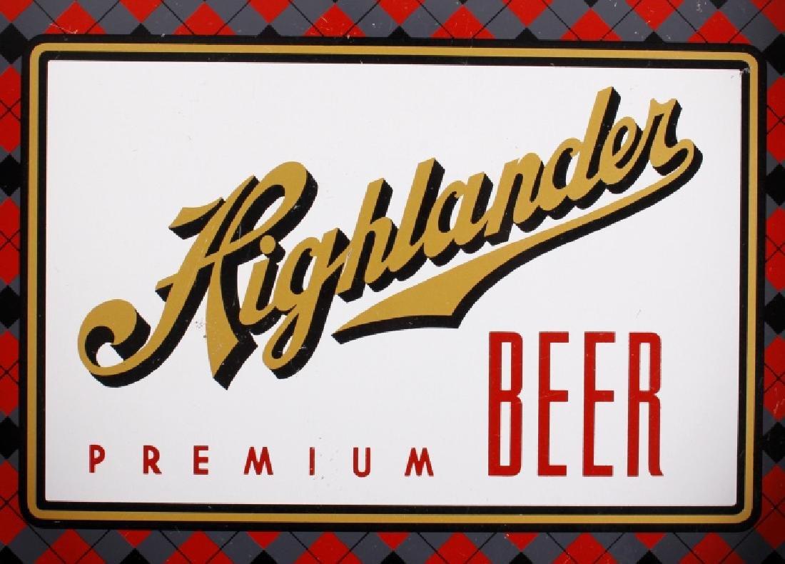 Highlander Premium Beer Tray Missoula Montana - 2