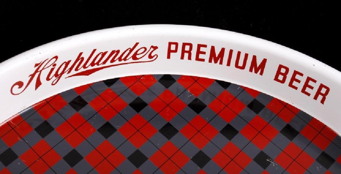Highlander Premium Beer Tray Missoula Montana - 3