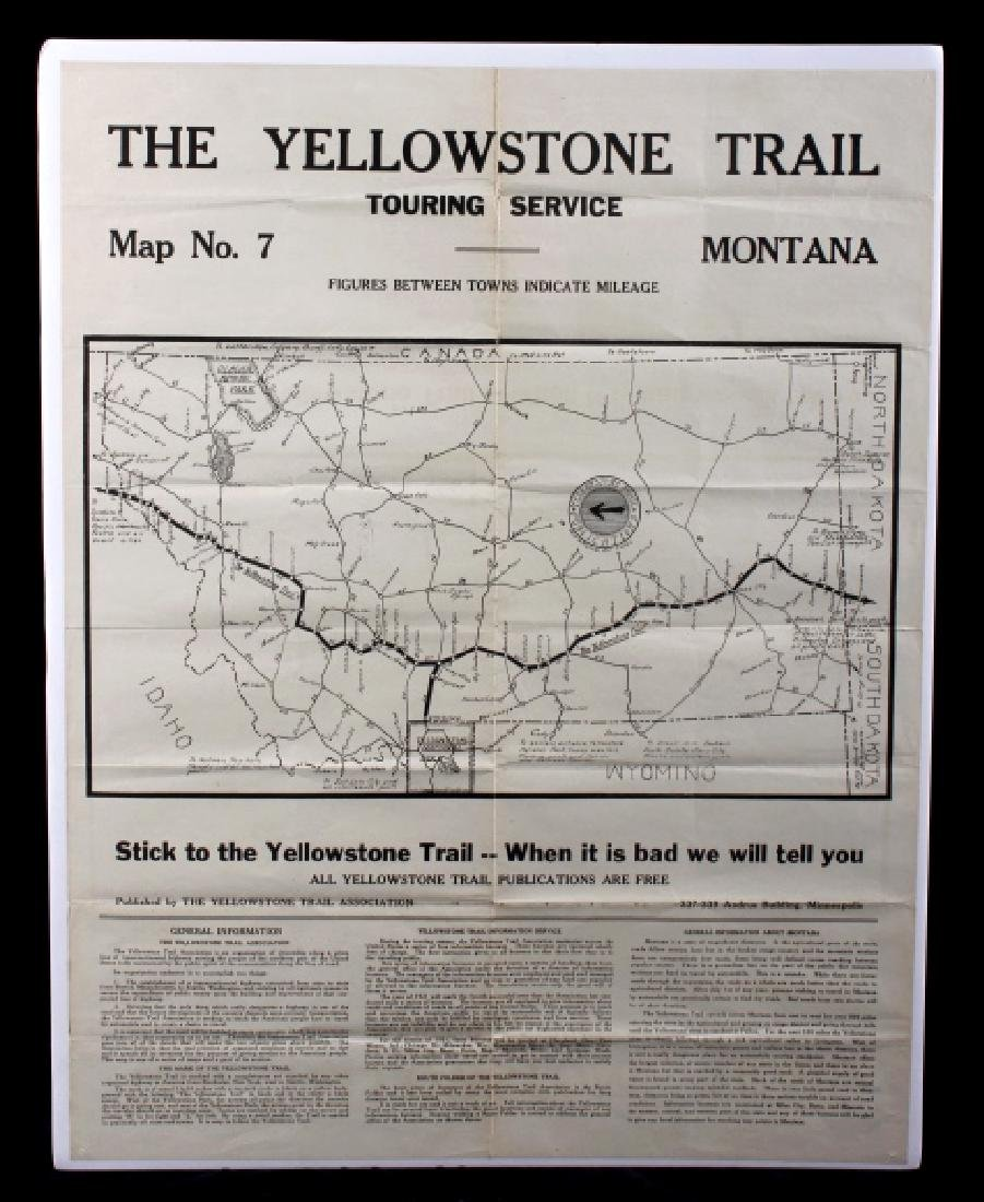 The Yellowstone Trail Touring Service Montana Map