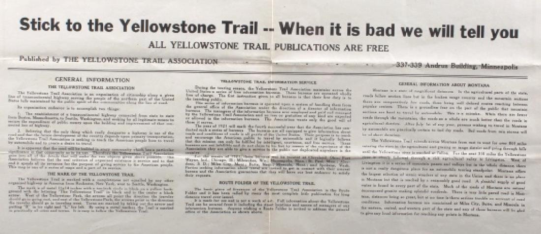 The Yellowstone Trail Touring Service Montana Map - 4