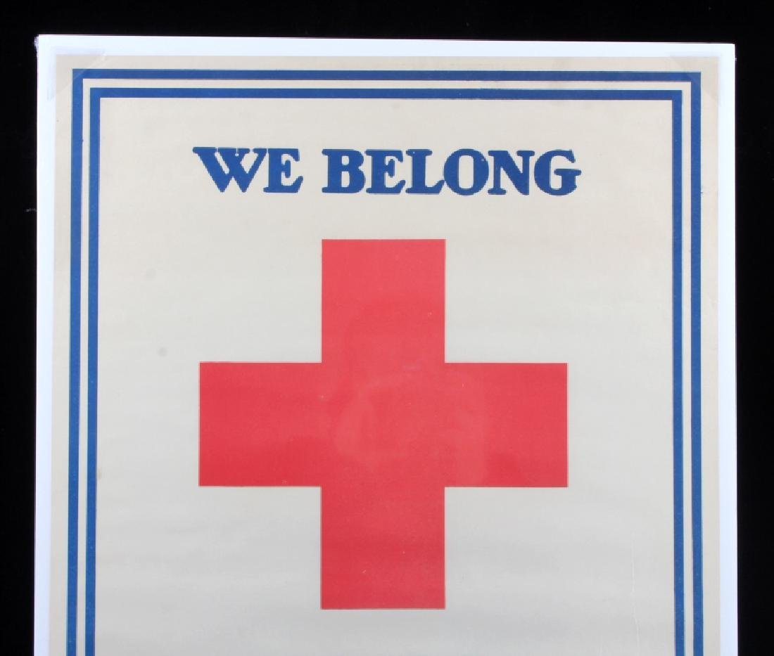 WWI Red Cross 100 Percent Strong Poster c. 1918 - 2